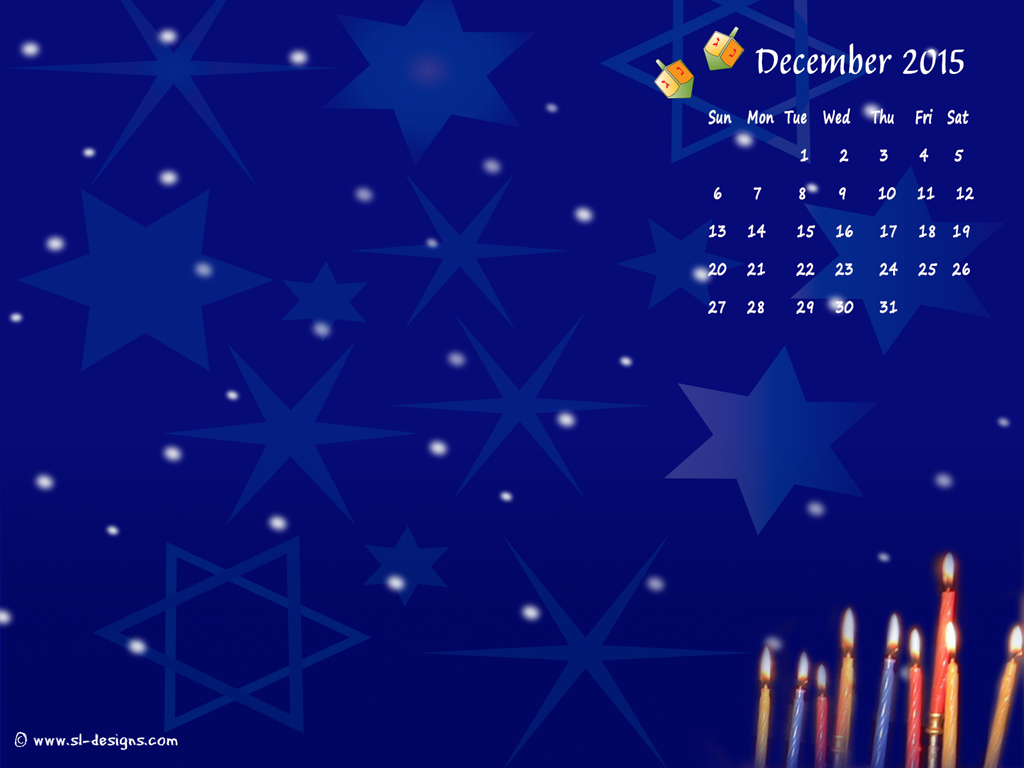 december calender desktop wallpaper