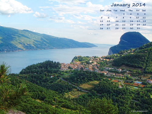 Free monthly calendar desktop wallpaper - January 2011