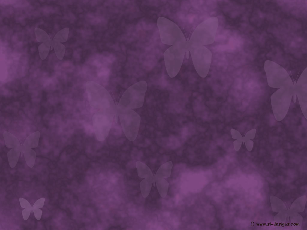 purple wallpaper with butterflies