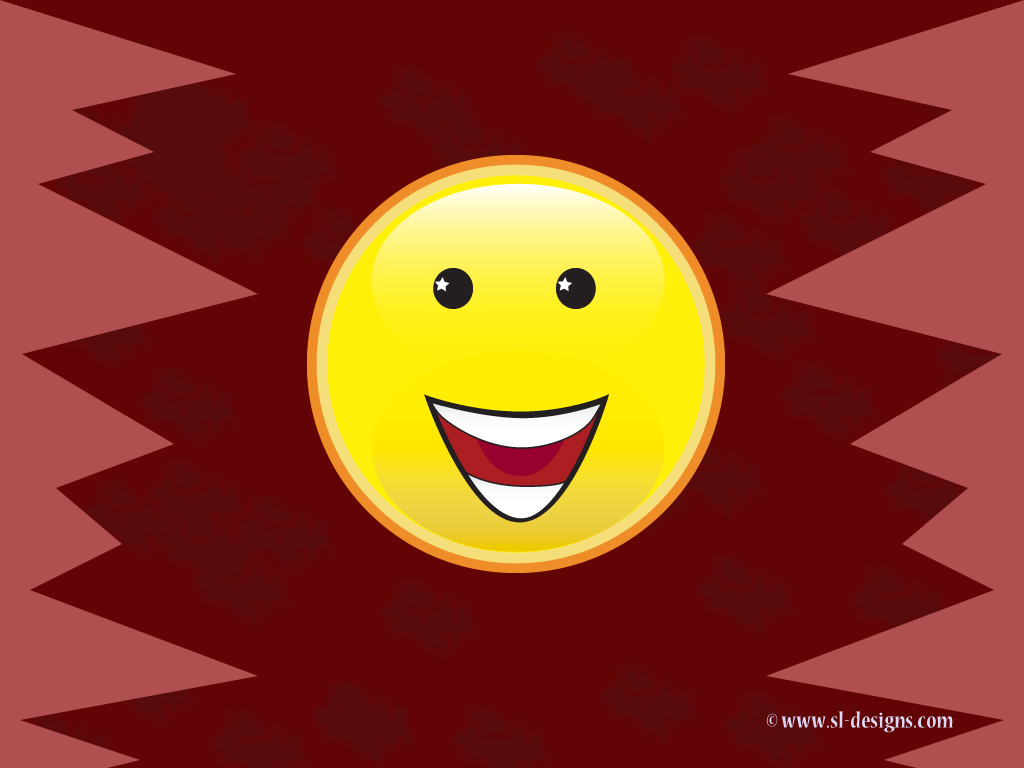 Happy Face Smiley on burgundy - desktop wallpaperHappy Face Wallpaper