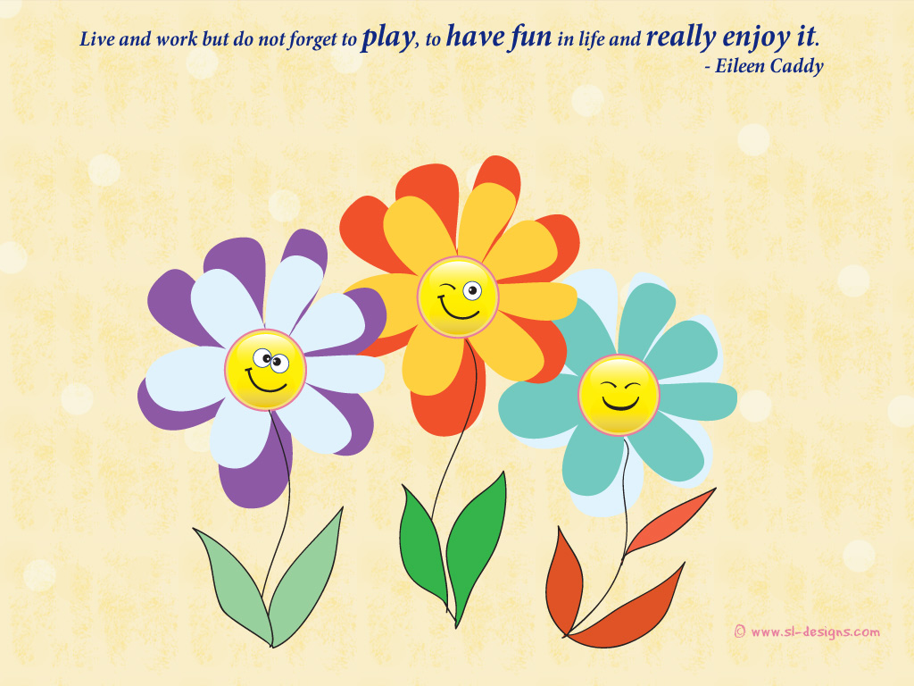 Desktop Wallpaper with happiness quote by Eileen Caddy - free wallpapers by S...