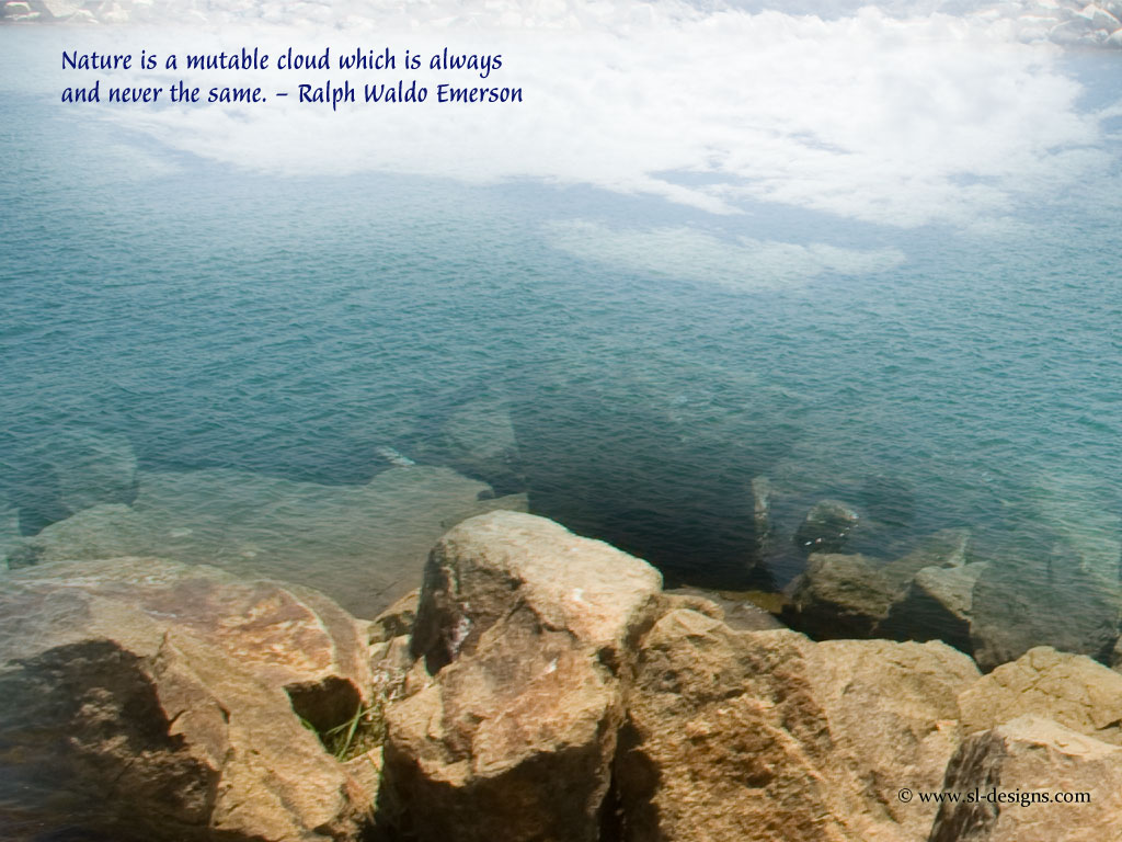 Nature Quote on a wallpaper