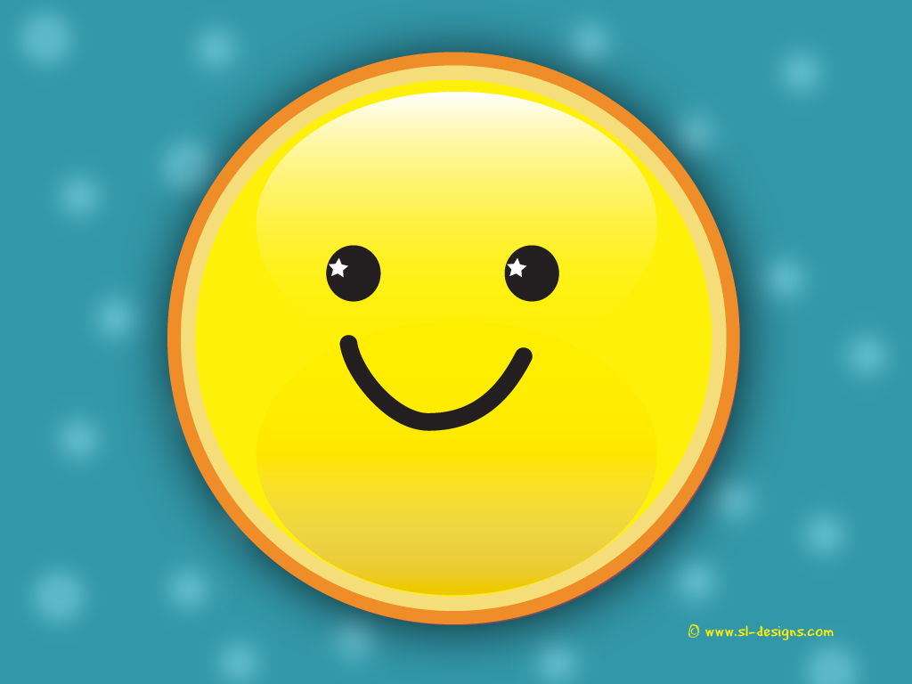 Download free cute happy smiley face wallpaper for your desktop, web ...