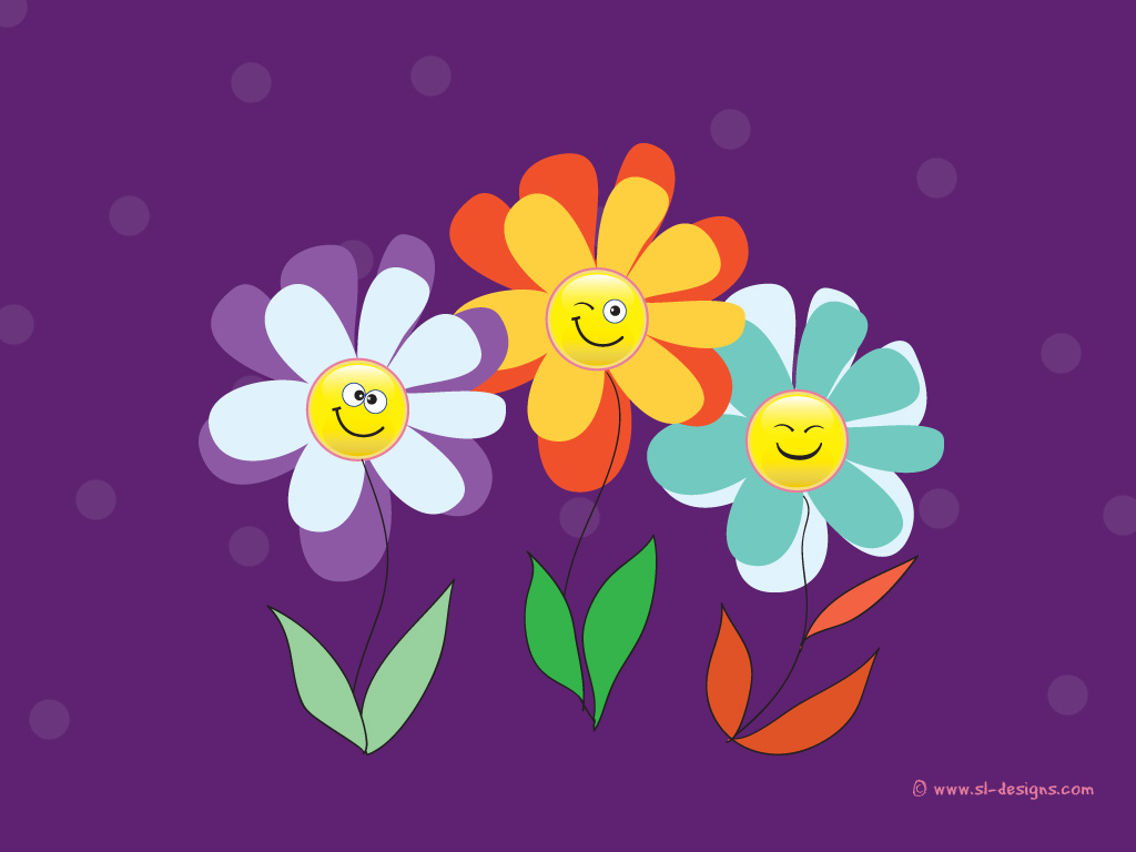 Click to zoom go back to smiley flowers wallpapers page