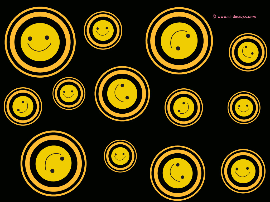 smilies on black