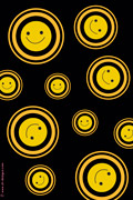 rolling smiley- phone wallpaper