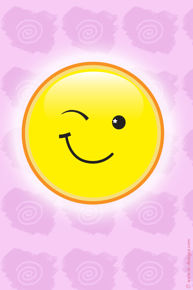 Wallpaper for your cell phone winking smiley download wallpaper altavistaventures Images